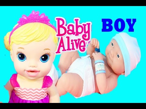 BABY ALIVE BOY BABY DOLL Baby Alive Doll is a BIG SISTER Newborn Baby Doll Toys Surprise Tea Party