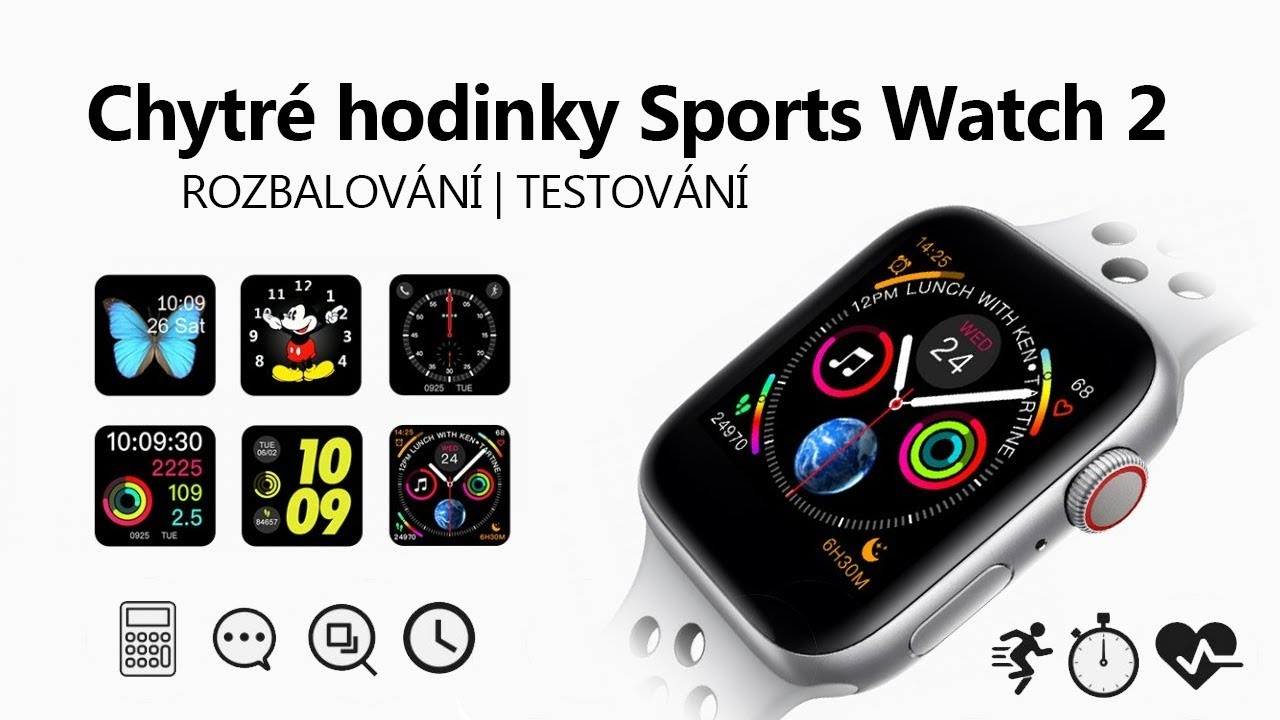 964961b55 Chytré hodinky Sports Watch 2 s luxusním zpracováním - YouTube