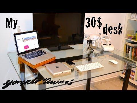 How to make a 30$ low budget desk DIY