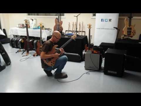 Paul Herman playing fretless Wal Mk 2 at Basschat South East Bass Bash 2016