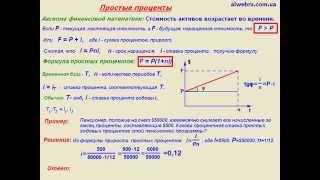 ВИДЕОУРОК  Финансовая математика  Простые проценты