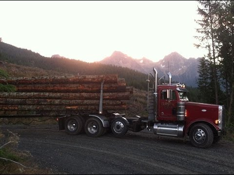 Peterbilt logging truck off Helmick Rd Jake Brake 550Cat ...