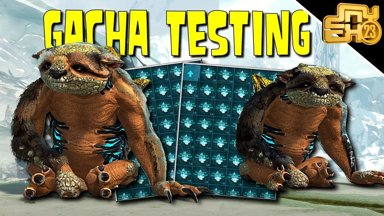 ARK GACHA TESTING - HOW TO GET THE BEST GACHA LOOT! (ASCENDANT CRYSTALS)