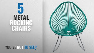 Top 10 Metal Rocking Chairs [2018]: Innit Designs Acapulco Rocking Chair, Chrome Frame with