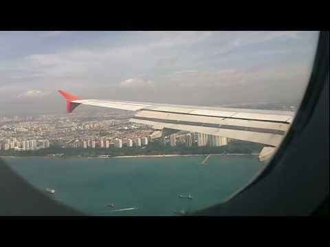 Landing at Singapore Changi Airport