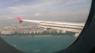 Landen in Singapore met geweldig uitzicht