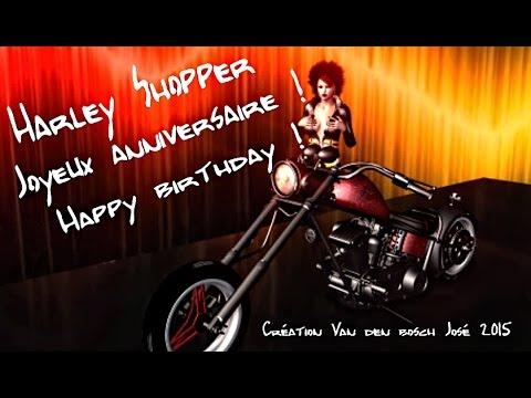 Célèbre Moto Harley Shopper joyeux anniversaire Happy birthday - YouTube XU21