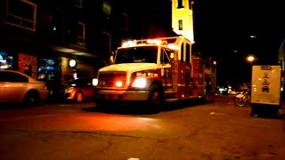 MONTREAL FIRE TRUCK 2081 RESPONDING FROM STATION 27 + BONUS