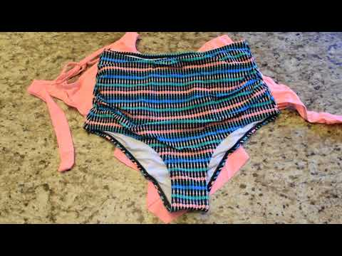 unboxing:-jolefille-two-piece-swimsuit,-high-waisted-tankini