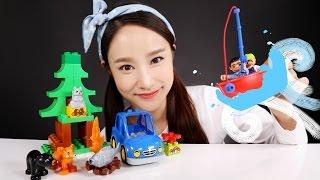凱利的樂高得寶DUPLO積木,森林旅行玩具| 凱利和玩具朋友們  CarrieAndToys