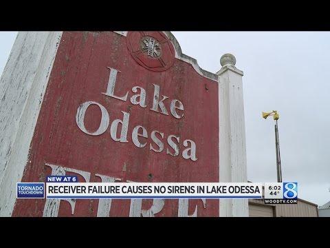Tornado warning siren fails in Lake Odessa