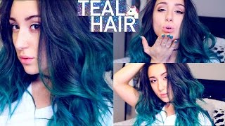 Ombre Teal Hair Tutorial