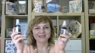 Применение чернил спреев в декупаже и микс медиа: видео урок Натальи Жуковой