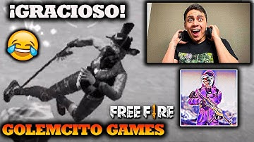 REACCIONANDO A GOLEMCITO GAMES *EL YOUTUBER MAS GRACIOSO DE FREE FIRE* EPICO l Jeanki