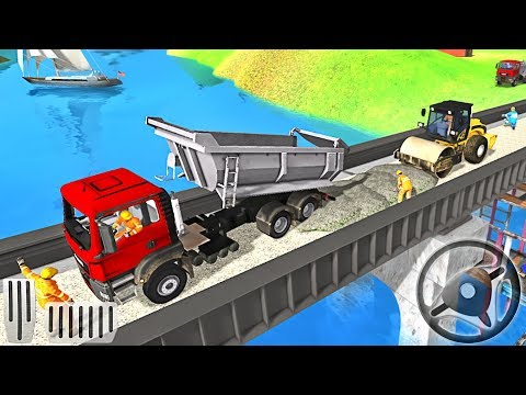 Indian Train Bridge Construction: Railroad Building Simulation - Android GamePlay