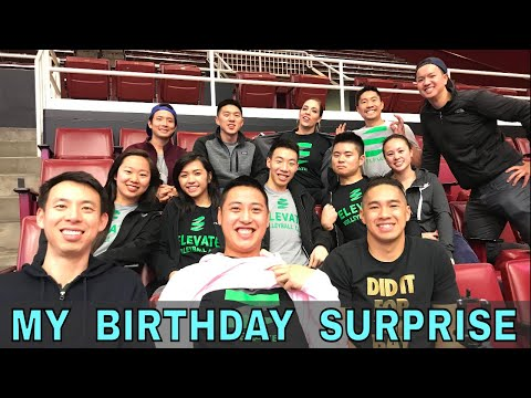 MY BIRTHDAY SURPRISE - Family, Friends, Food, Volleyball! (Coach Donny)
