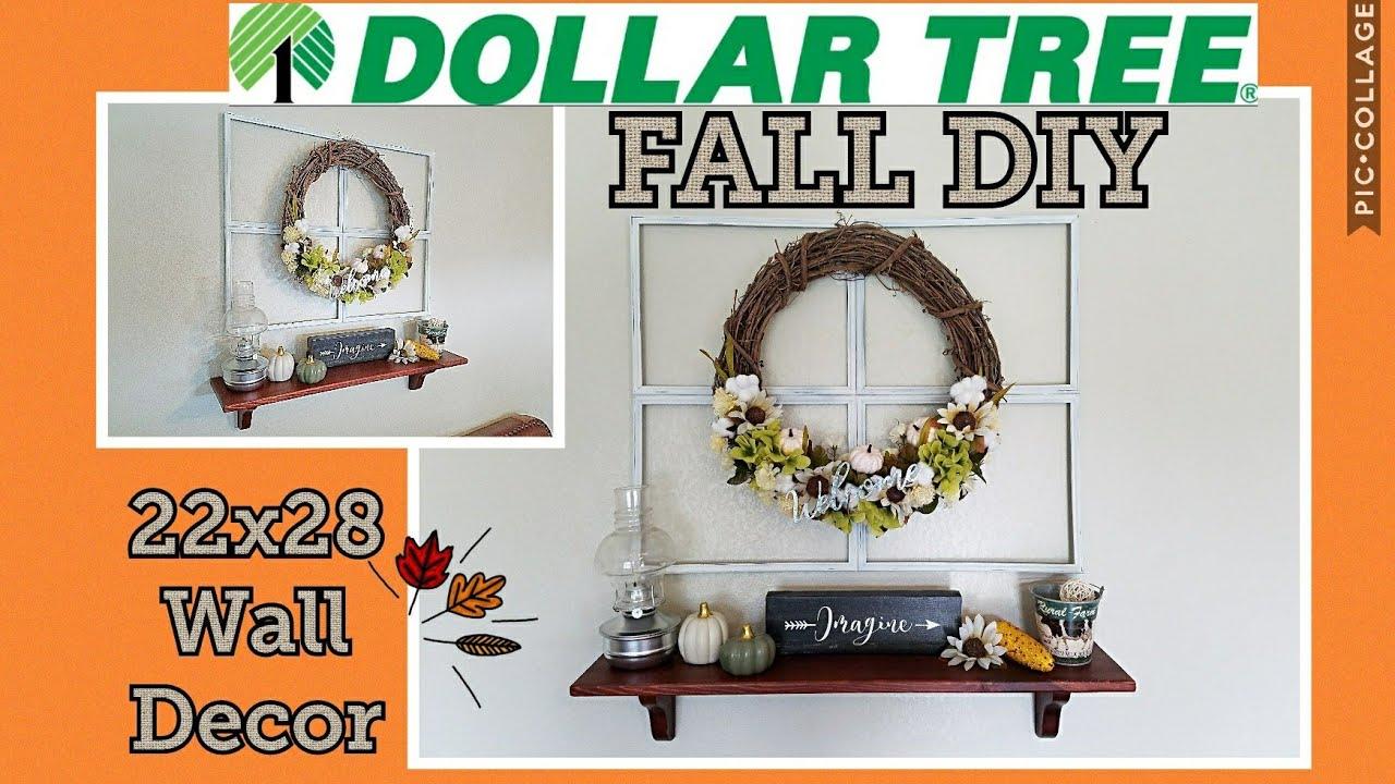 Faux Window Frame Fall Wreath Dollar Tree Diy 2018
