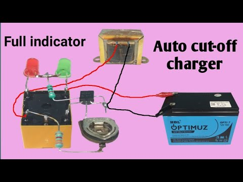 auto cut off 12v battery charger youtube. Black Bedroom Furniture Sets. Home Design Ideas