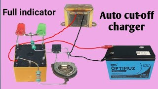 Auto cut-off 12v battery charger