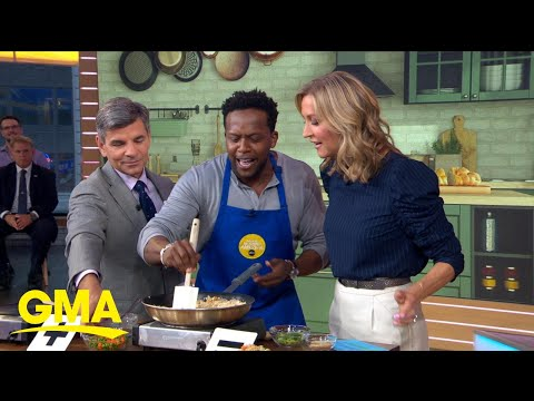 Kevin Curry of 'Fit Men Cook' shares easy fried rice and quesadilla recipes l GMA