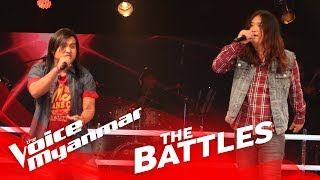 "JaWah Aung Moon vs. Waii Ryan: ""Rock 'n' Roll Show"" - The Battles - The Voice Myanmar 2018"