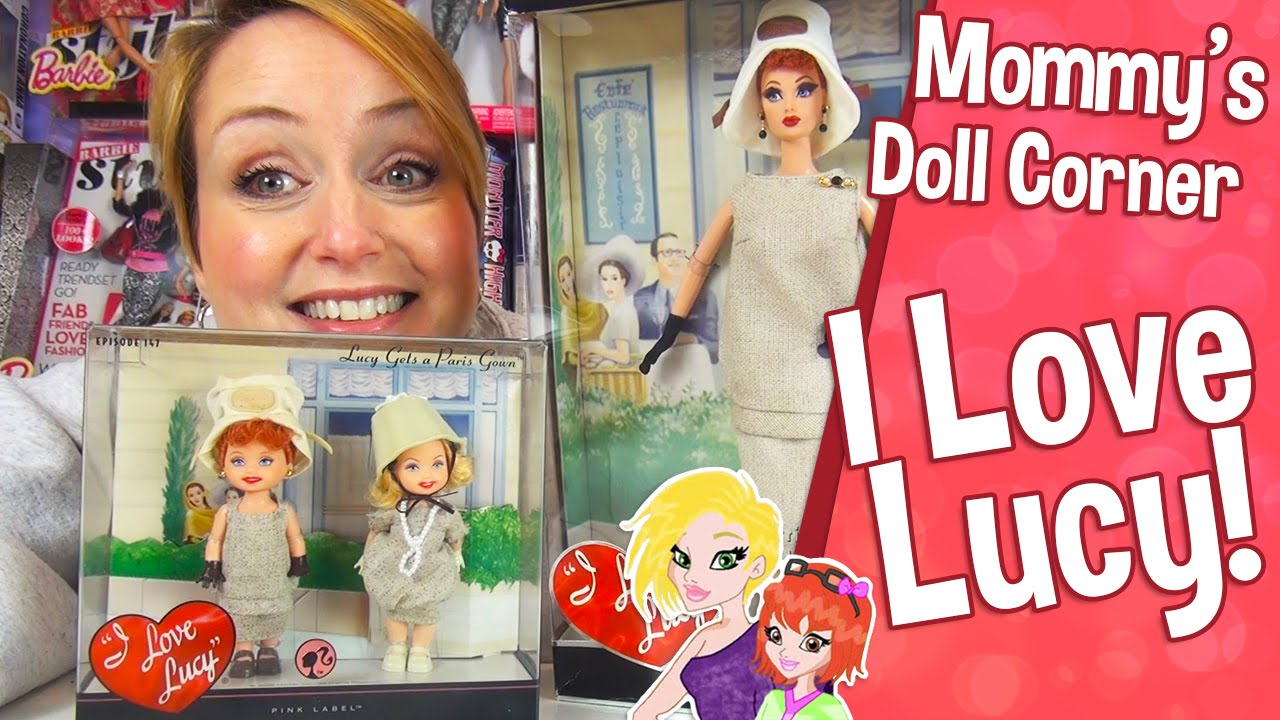 ❤ Barbie I Love Lucy | Lucy Gets a Paris Gown Barbie Doll Review ...