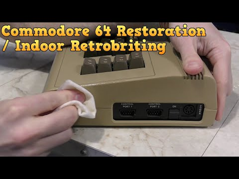 Commodore 64 Restoration and new retrobrite technique.