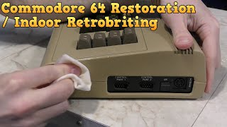 Commodore 64 Restoration and new retrobrite technique.