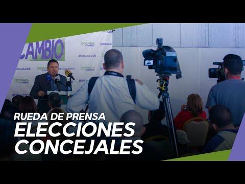 Rueda de prensa Javier Bertucci - Resultados de Elecciones de Concejal