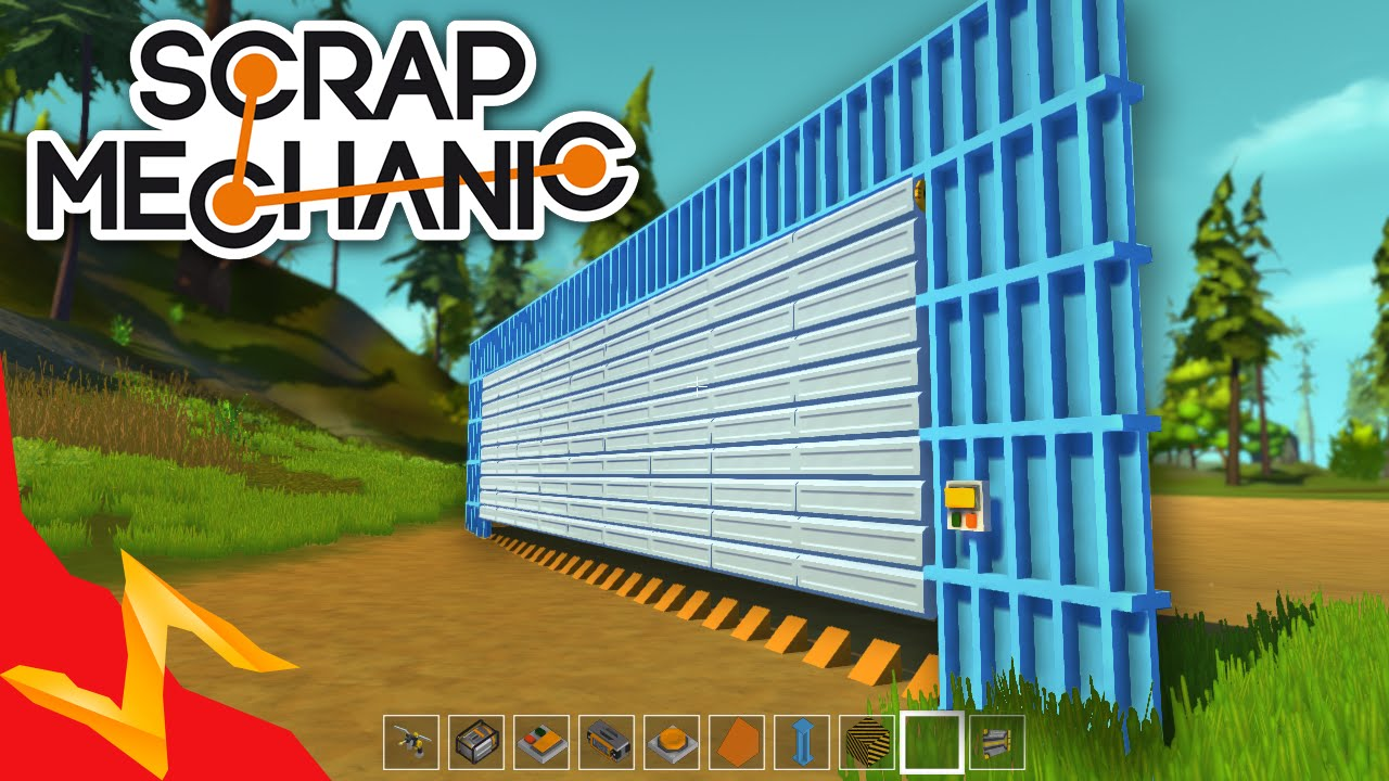 Scrap Mechanic Garage Door Youtube