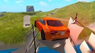 Beamng drive - Open Bridge Jumping Car Crashes #3