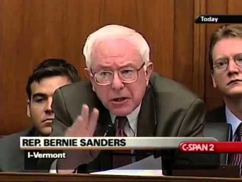 Bernie Sanders Grills Alan Greenspan: What Will You Do About This? (2/11/2004)