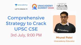 Comprehensive Strategy to Crack UPSC CSE | By Mrunal Patel | UPSC Preparation