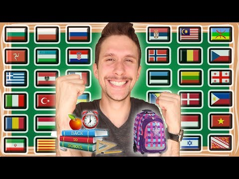 "How To Say ""BACK TO SCHOOL!"" In 37 Languages - Happy Version"