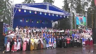 Гимн Карелии в исполнении хора из тысячи человек Видео Сампо ТВ 360
