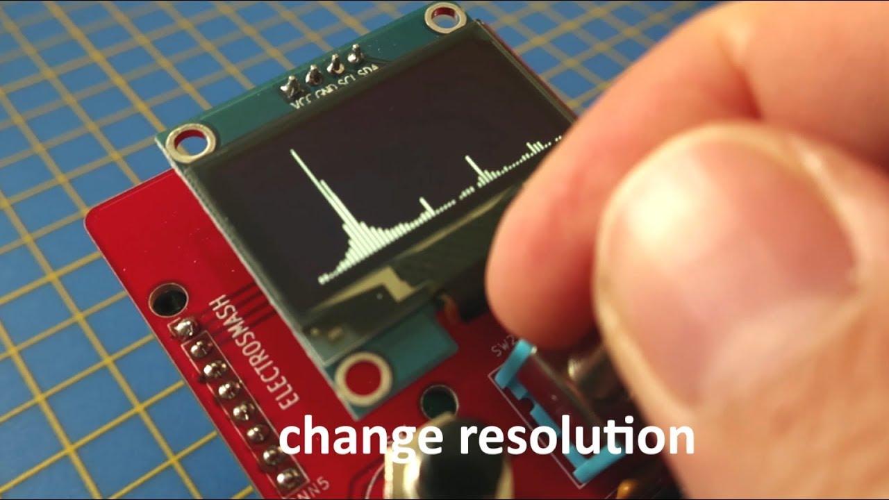 Arduino FFT Spectrum analyzer with pedalSHIELD MEGA