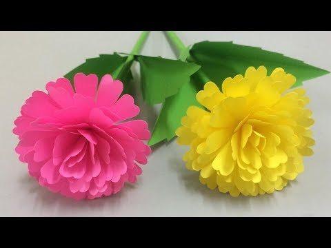 How to Make Lovely Paper Flower - Making Paper Flowers Step by Step - DIY Paper Crafts