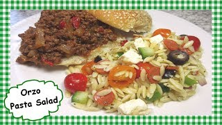 How to Make Easy Orzo Pasta Salad ~ Summer Orzo Pasta Salad Recipe