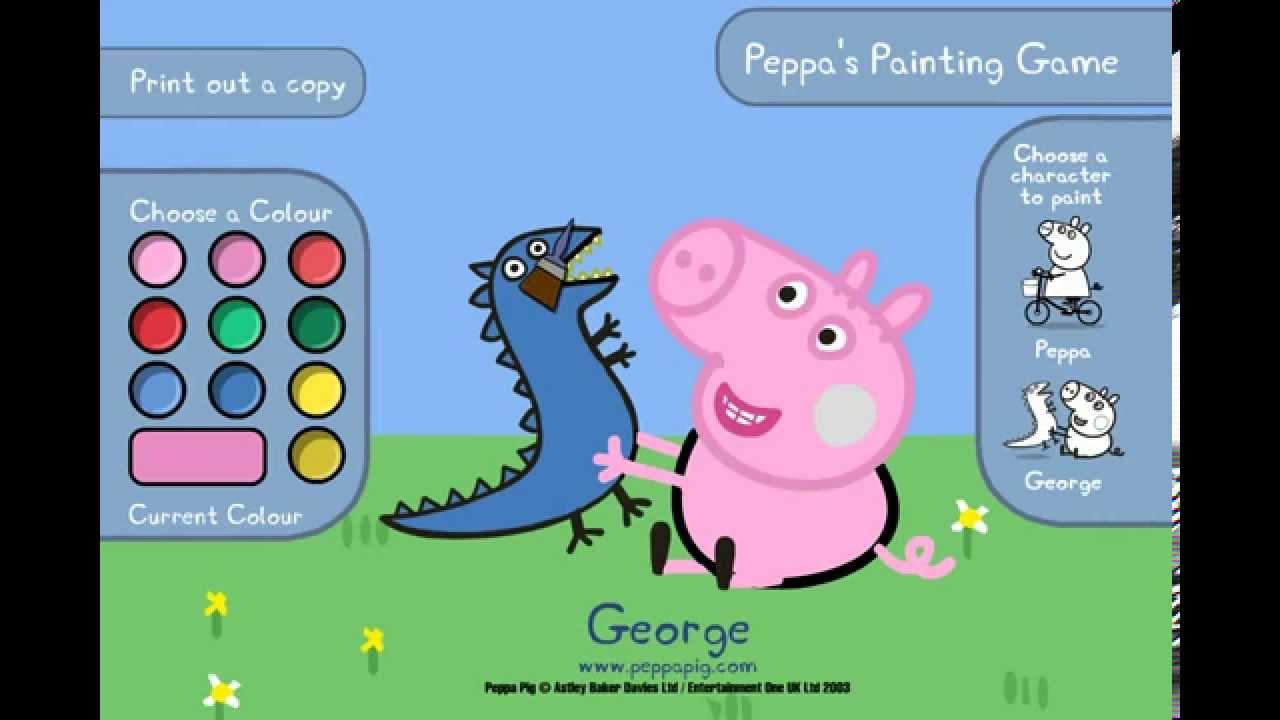 Peppa pig - Giochi per bambini da colorare - YouTube
