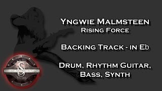 Yngwie Malmsteen - Rising Force - Backing Track + Rhythm Guitars in Eb