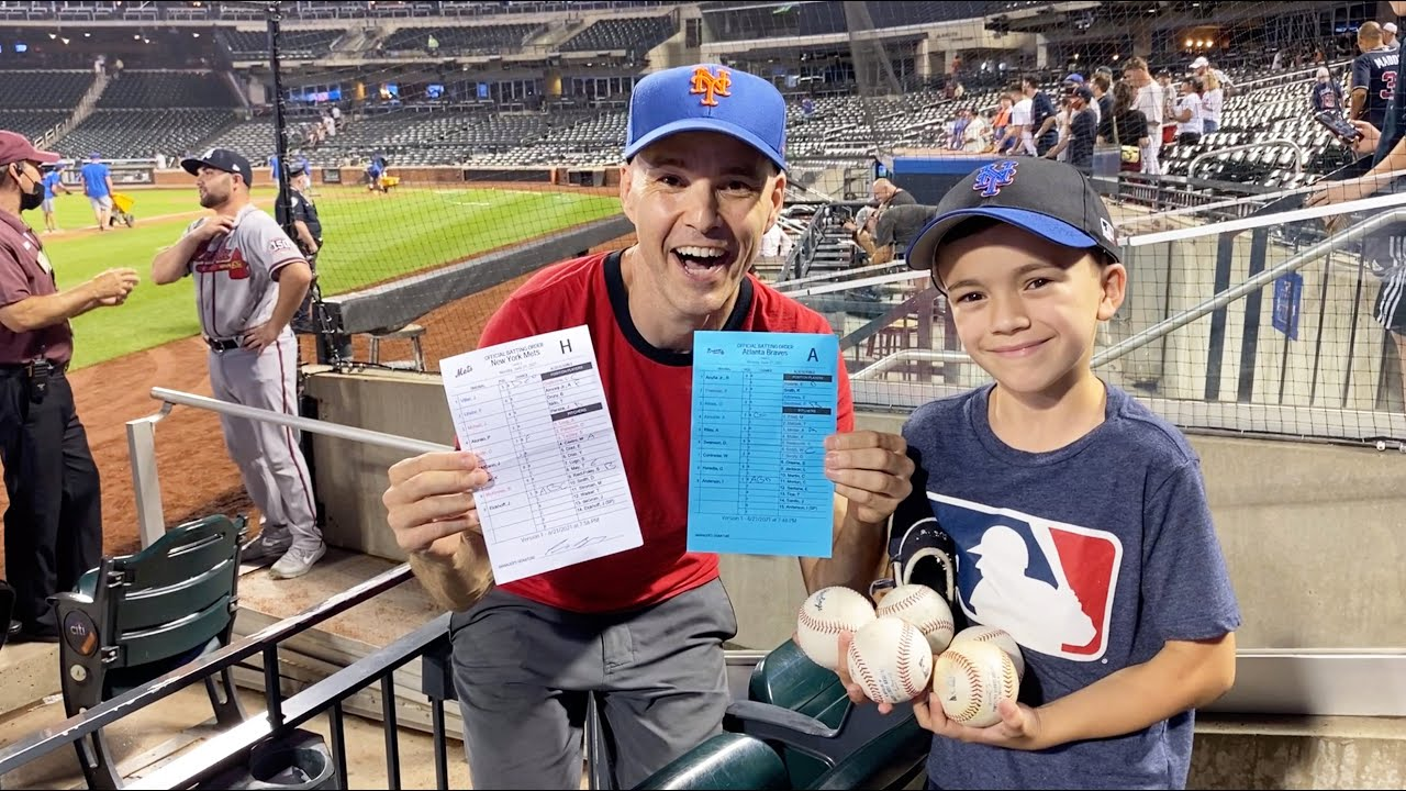 We got the LINEUP CARDS! Huge hookup from the umpires at Citi Field