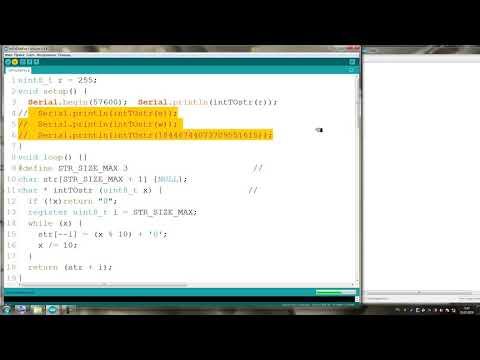 Arduino как преобразовать число в строку IntToCharFoo