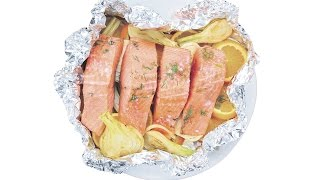Baked Salmon With Orange & Fennel