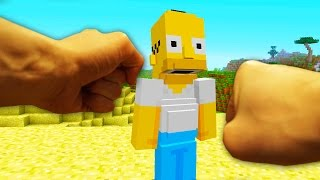 REALISTIC MINECRAFT - HOMER SIMPSON vs STEVE!