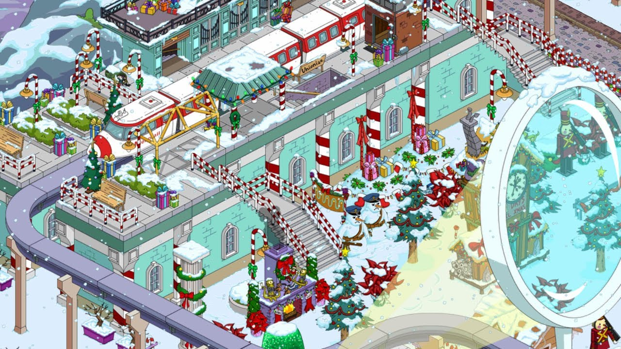 Simpsons Tapped Out Christmas 2021 The Simpsons Tapped Out 7 Minutes Of Best Monorail Krustyland Xmas Youtube