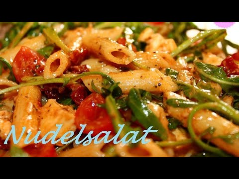 Mediterraner Nudelsalat Mit Tomaten Italienischer Nudelsalat Youtube