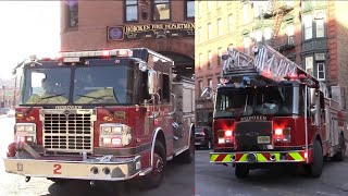 EVERY FIREHOUSE OF THE HOBOKEN FIRE DEPARTMENT RESPONDING INDIVIDUALLY FROM QUARTERS