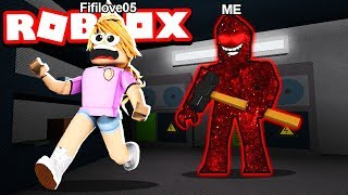 TROLLING LITTLE SISTER AS THE BEAST!! (Roblox Flee The Facility)