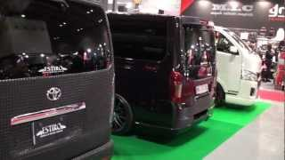 (HD)Osaka Auto Messe 2013-TOYOTA HIACE booth-vol.3(大阪オートメッセ)