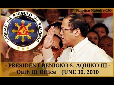 President Benigno Aquino III sworn in as the Fifteenth President of the Philippines | June 30, 2010